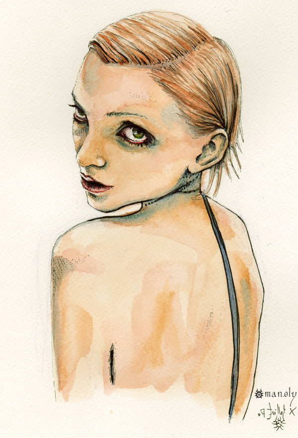 fashion illustration watercolor Holy Mane