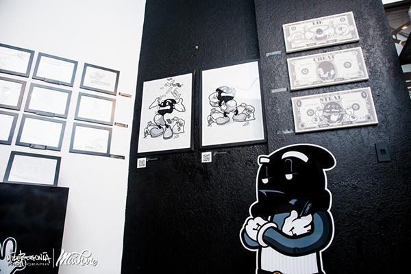 Exhibition  redefine gallery watercolor prints sketch