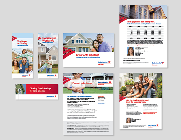 bank of america home loans collateral redesign on behance