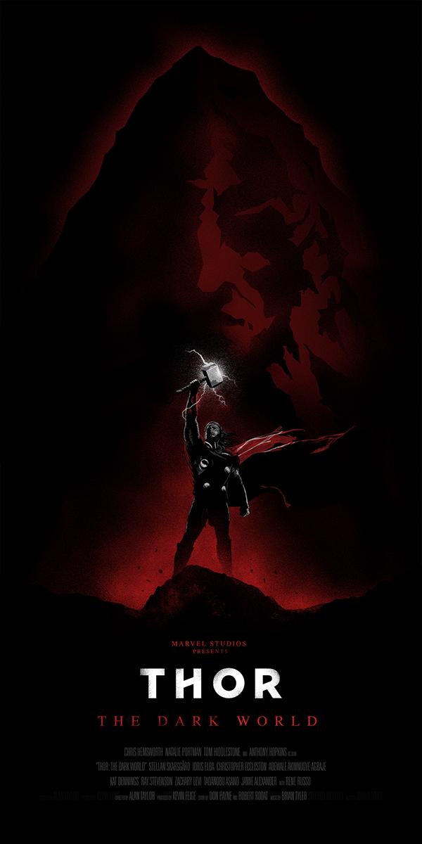 Thor The Dark World Illustrated Poster