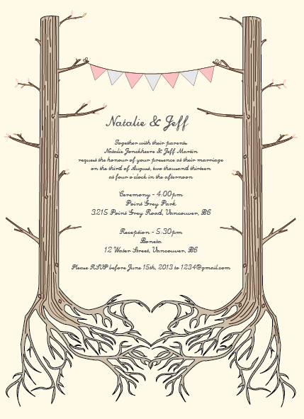 Woodsy Wedding Invitations on Behance