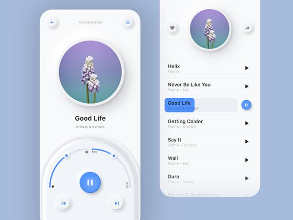 Music App UI   Neomorphism   Soft UI