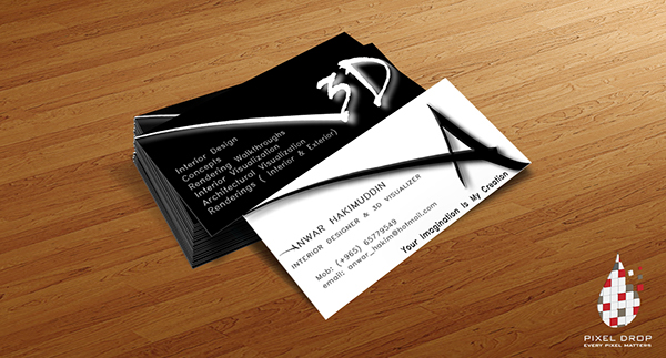 business card for a 3d visualizer on behance - 3 D Business Card