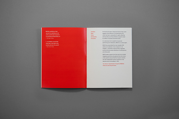 moca museum of contemporary art brochure on behance