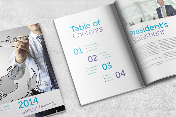 Annual Report Template  A Portrait On Behance