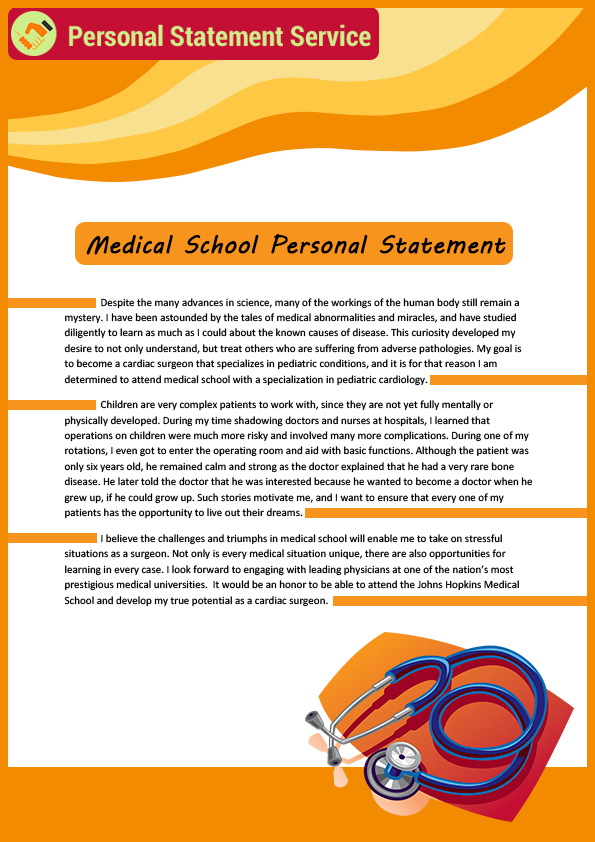 medical personal statement cv