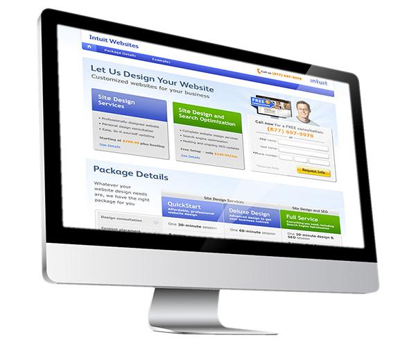 Intuit websites microsites Web Templates redesign