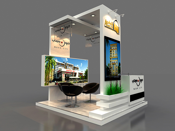 Exhibition Stand Designer Job Description : Amco booth on behance