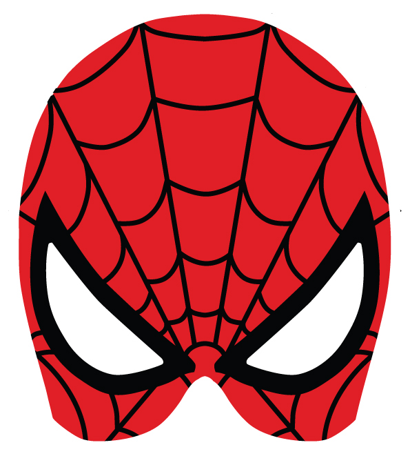 It's just a photo of Fan Spiderman Mask Printable