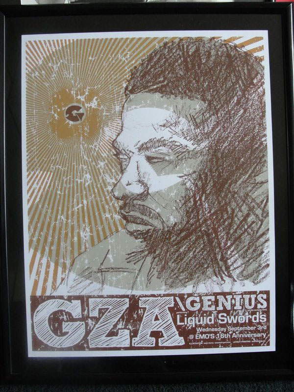 Gza Concert Poster (Framed) on Behance