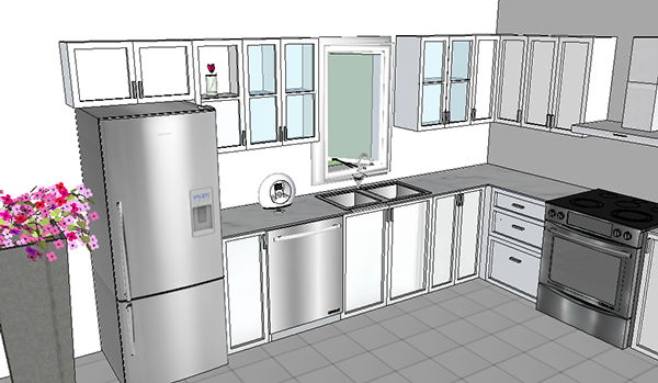 design kitchen with sketchup sketchup designs on behance 485