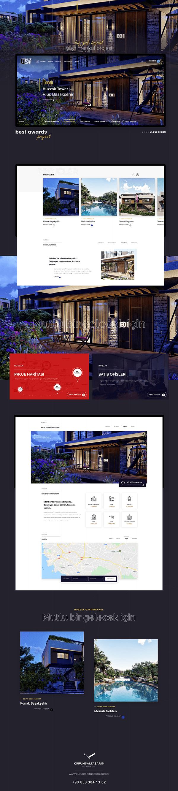Huzzak Gayrimenkul Web Tasarım / UI Design