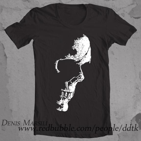 Nightmares Skull T Shirt Design On Behance