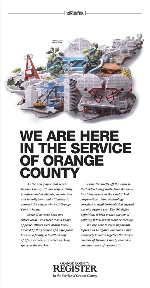 Orange County Register Ad Campaign on Pantone Canvas Gallery