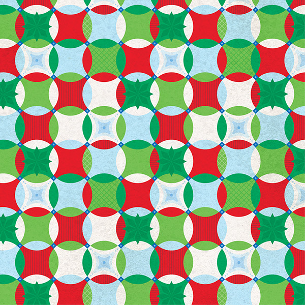 Christmas Scrapbook Paper.Traditional Christmas Scrapbook Paper On Behance