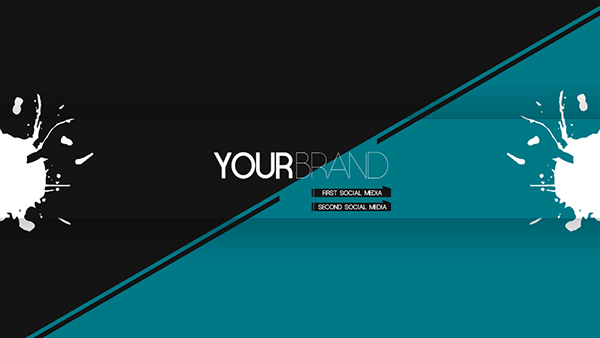 Minimalist youtube banner on behance for Minimal art youtube