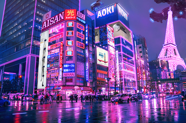 Edit on photoshop - photo from Akihabara - TOKYO