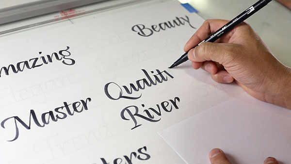 Online Calligraphy Class 3 The Brush Pen Letters On
