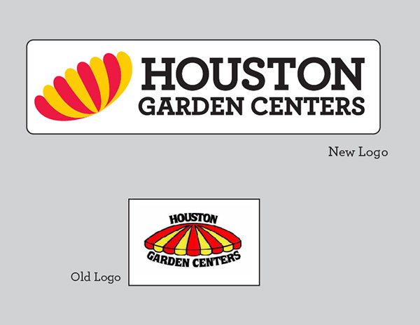 comparing between the old logo and the new logo - Houston Garden Centers