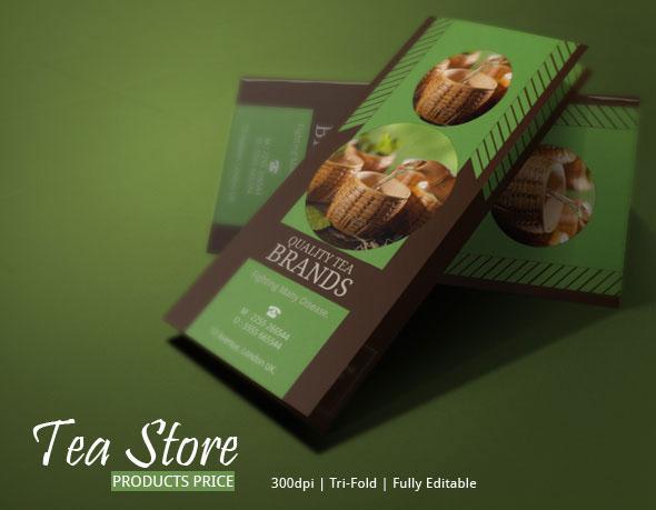 Best Tea Brochure for Tea Store | Modern Design on Behance