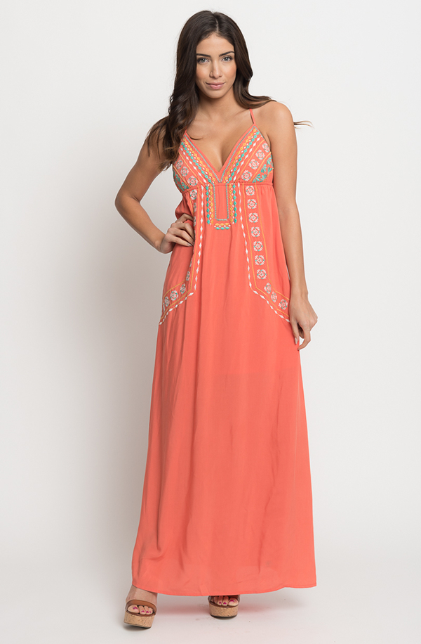Buy online floral embroidered maxi dress for women on s on Behance