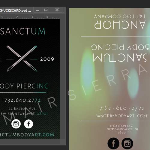 Sanctum Body Art Business Cards On Behance