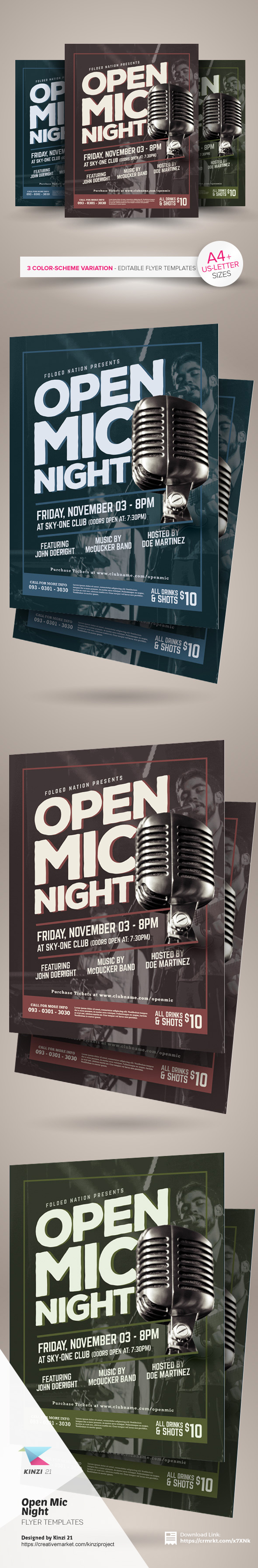 open mic night flyer template on behance open mic night flyer template are fully editable design templates created for on creative market more info of the templates and how to get the