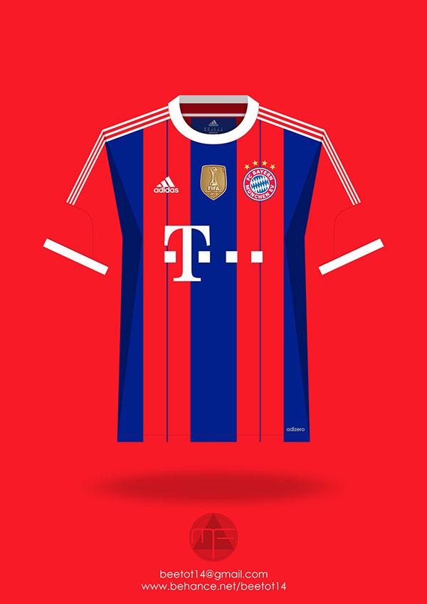 dc1c607daa1 Bayern Munchen 2014 15 Season Kit on Behance