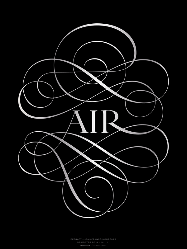 the letter black air poster 2014 on behance 1657