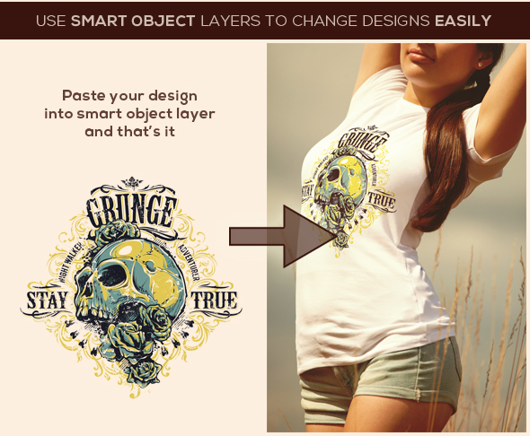 apparel crew neck design girl grunge Isolated mock up mock-up Mockup model photo-realistic t-shirt template