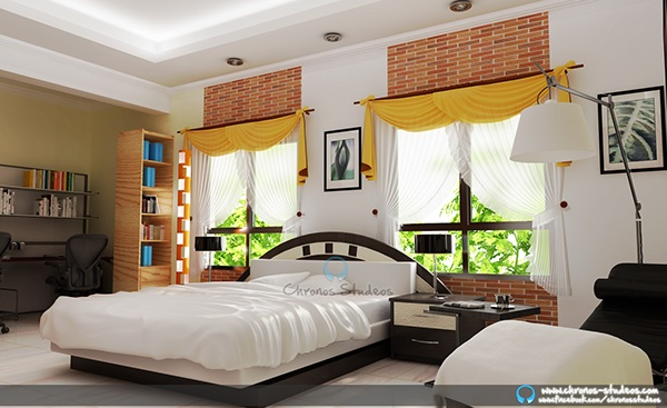 Bedroom Interior Rendering Done By The Team Chronos Studeos Lagos Nigeria