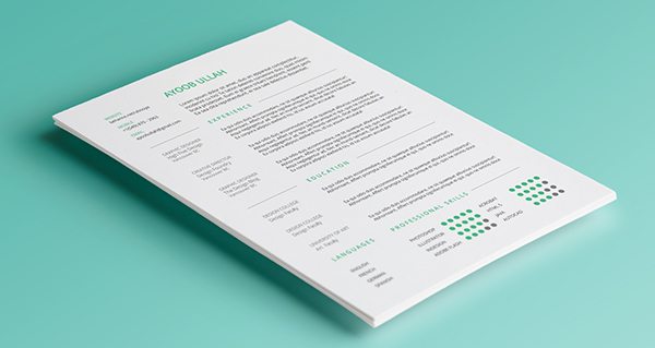 Resume template free CV graphicdesign type design sample editorialdesign cover Layout vancouver Canada