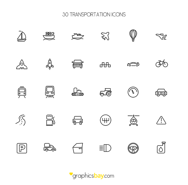 icons Transport Icons free icons free freebie vector icons psd icons