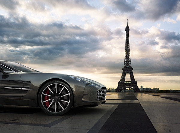 paris chicago aston martin one 77 cgi on behance. Black Bedroom Furniture Sets. Home Design Ideas