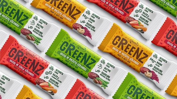 GREENZ - Healthy snacks branding & packaging