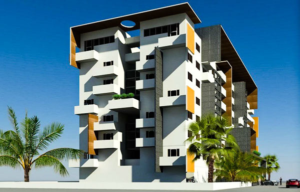 Apartment elevation designs in india arystudios ask home for Indian apartment plans with elevation