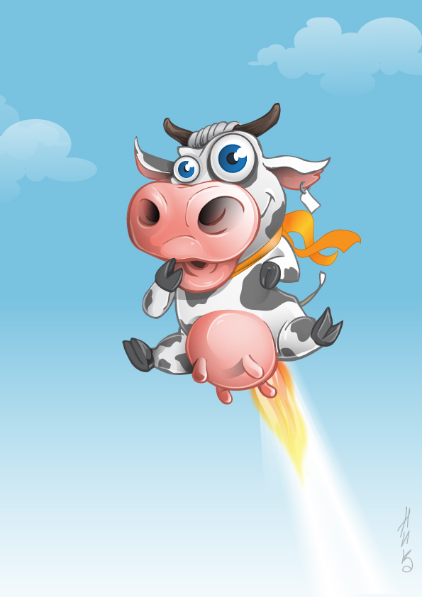 Flying Cow On Behance