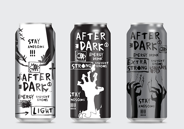 After Dark Energy Drink Story Designed By Ana Pesic