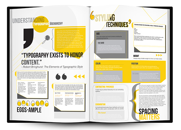 Newsletter layouts : Typographic Hierarchy on Behance
