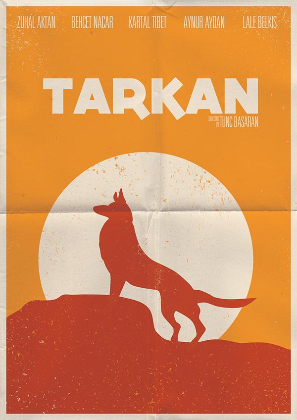 design poster minimal turkish movie old cover tarkan agir roman Retro vintage flyer