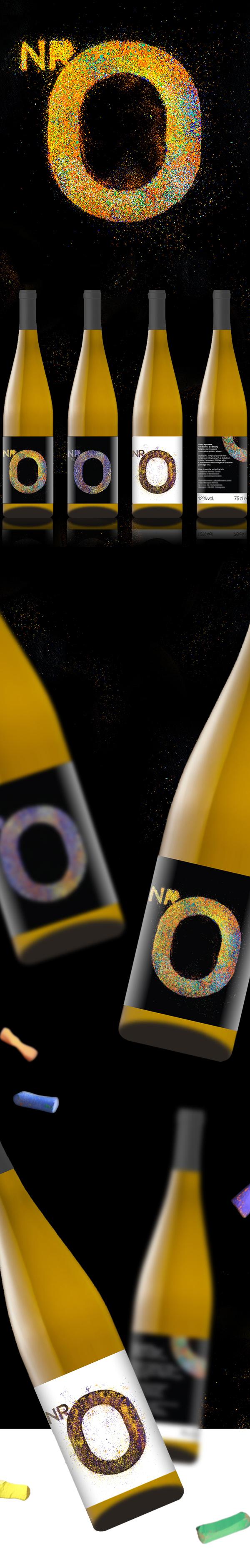 wine nr0 bottle Label wine label pastel
