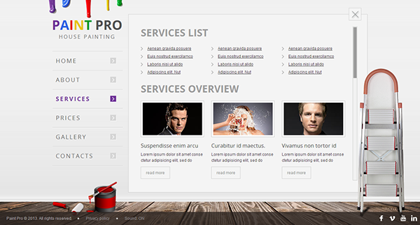 Paint Pro House Painter HTML5 Template 300111619 On Behance