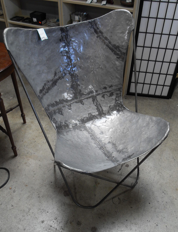 Delicieux Very Cool And Chic Metal Butterfly Chair. One Of A Kind. This Chair Is A  Play Off The Folding Fabric Butterfly Chairs.