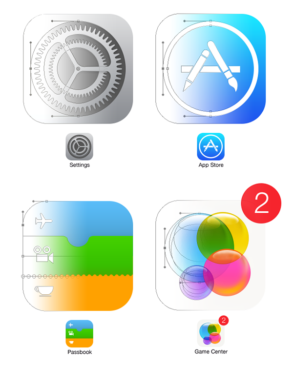 iOS 7 Home Screen With 100% Shape Layers FREE PSD on Behance
