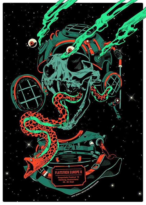 Mercadorama  Mexico gig posters  smithe