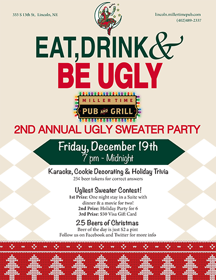 Ugly Christmas Sweater Party Flyer On Behance