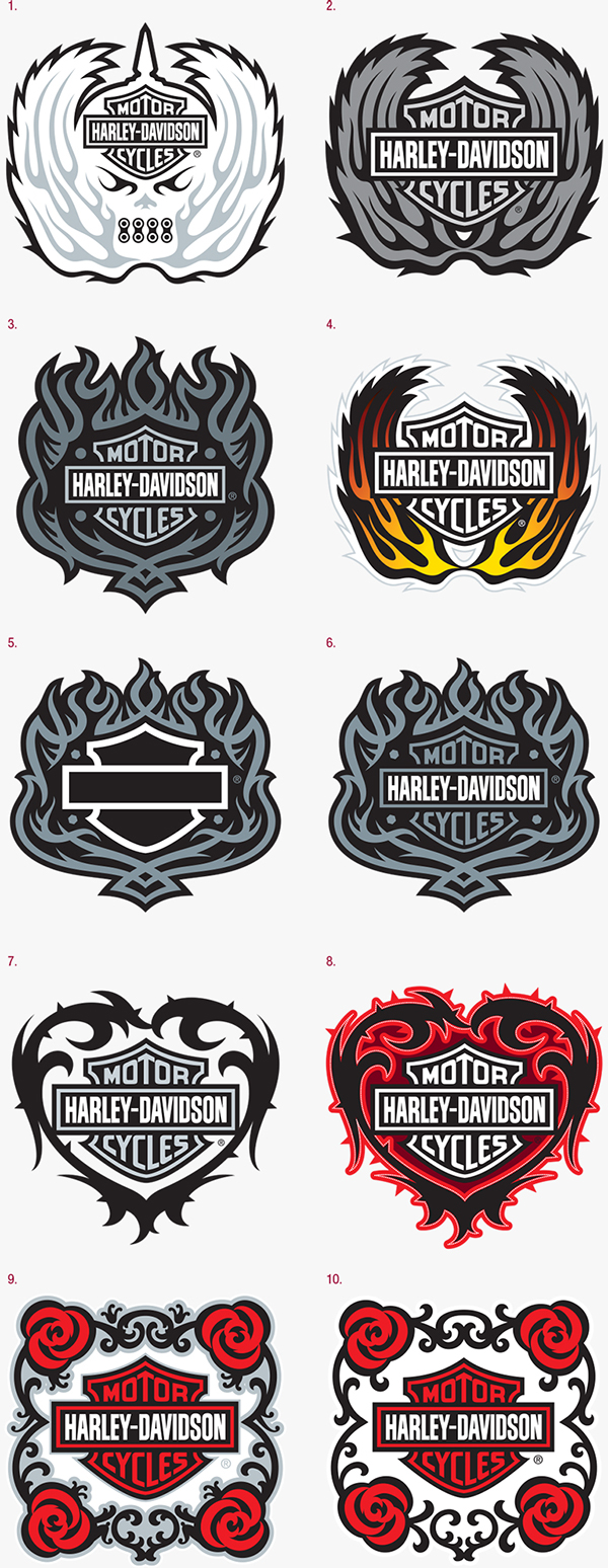 It is a graphic of Playful Printable Harley Davidson Logo