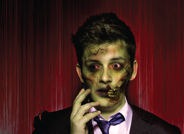 Face Into a Zombie Using