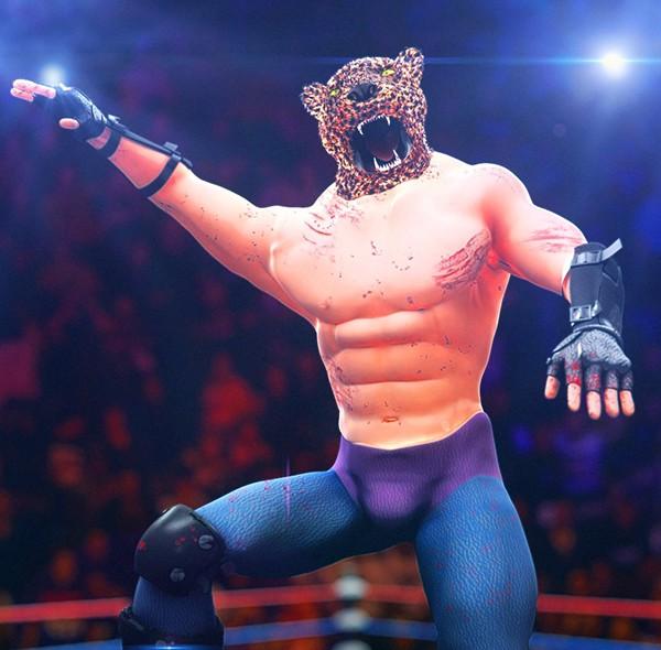 WWE king tekken Fighter fighting tiger man game character