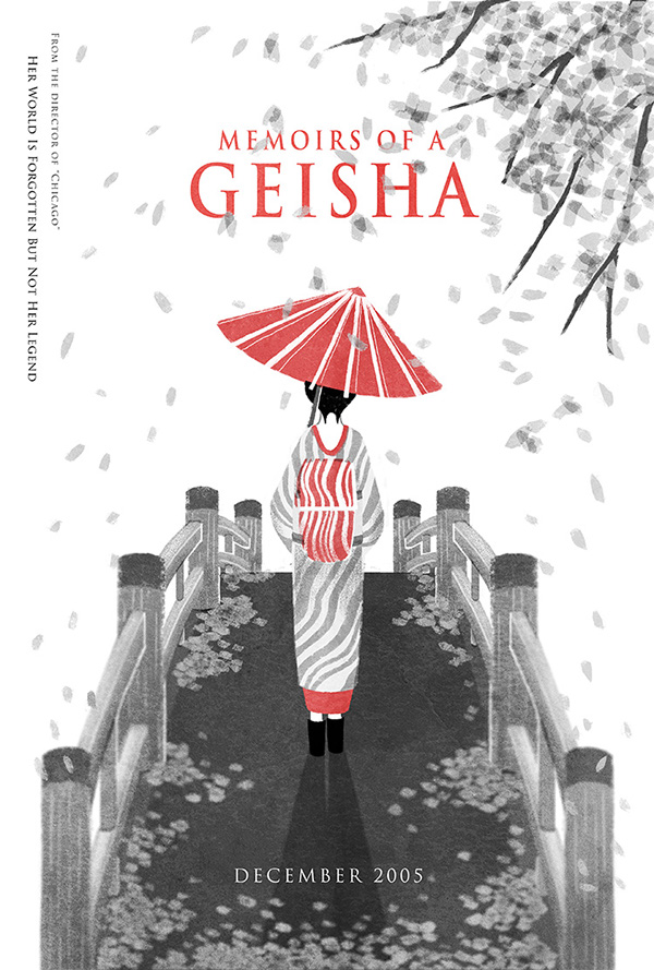 memoirs of a geisha movie posters on behance